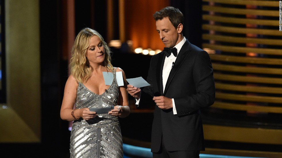 "The only thing better than having Amy Poehler present an award? Having her initially introduced to the audience as Meyers' ""friend Beyonce."" Later, Poehler helped Meyer introduce Matthew McConaughey and Woody Harrelson as ""two men who also have no idea what happened at the end of 'True Detective.'"""