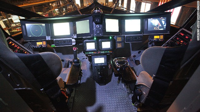 Ghost's cockpit seats a pilot, a weapons officer and a crew engineer.