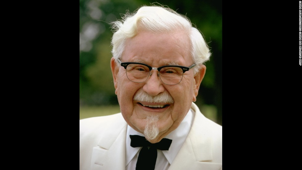 Col. Harland Sanders, founder of Kentucky Fried Chicken, favored a Western-style bow tie paired with a white suit. The fast-food restaurant often uses the colonel's highly recognizable image in marketing campaigns.