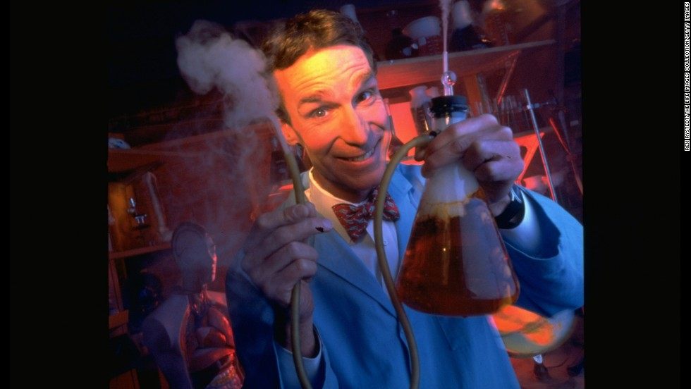 "Science educator and TV personality Bill Nye pairs a bright bow tie with his lab coat on his PBS TV series ""Bill Nye the Science Guy."" He keeps the tie and ditches the lab coat during <a href=""http://piersmorgan.blogs.cnn.com/2012/12/05/clips-from-last-night-bill-nye-vs-marc-morano-on-global-warming-newt-gingrich-on-the-fiscal-cliff/"">public appearances and debates</a>."
