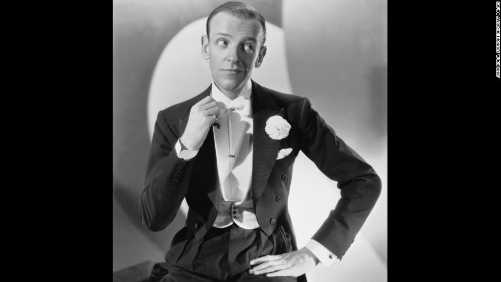 Dancing star Fred Astaire often performed his fleet-footed moves in bow tie and tails.