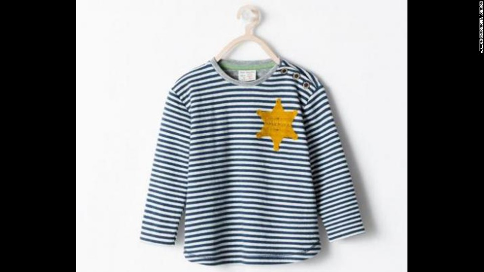 "Spanish fashion retailer <a href=""http://www.cnn.com/2014/08/27/living/zara-pulls-sheriff-star-shirt/index.html"">Zara apologized</a> in August for selling a striped T-shirt that drew criticism for its resemblance to uniforms worn by Jewish concentration camp inmates. Zara said the garment, advertised online as a striped ""sheriff"" T-shirt, was inspired by ""the sheriff's stars from the Classic Western films."""