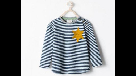 "Spanish fashion retailer Zara apologized in August for selling a striped T-shirt that drew criticism for its resemblance to uniforms worn by Jewish concentration camp inmates. Zara said the garment, advertised online as a striped ""sheriff"" T-shirt, was inspired by ""the sheriff"