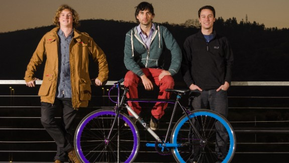 The three Chileans -- Andrés Roi Eggers, 23, Juan José Monsalve, 24, and Cristóbal Cabello, 22, invented the bike while they were still studying engineering at university. They left their courses to pursue the project full time.