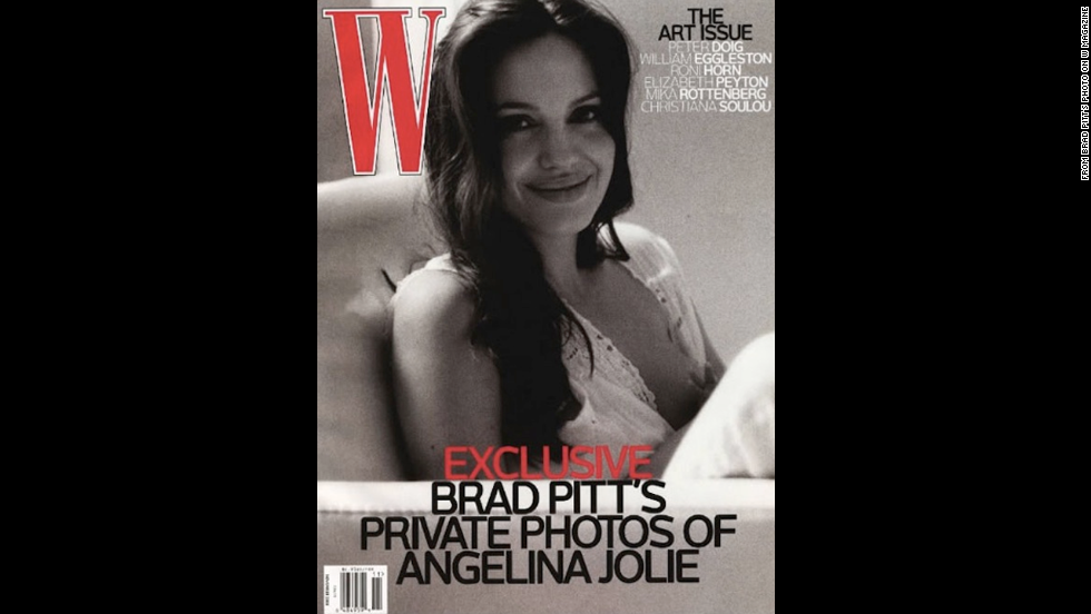 Actor Brad Pitt took this W magazine cover photo of his partner<a href=