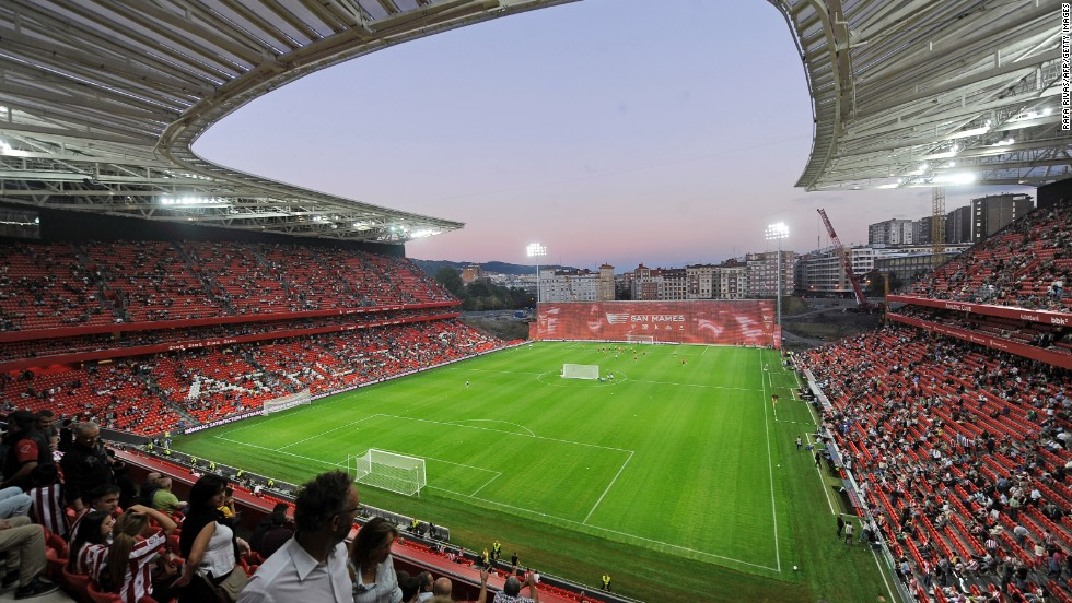 The new San Mames stadium will host Champions League football after Athletic Bilbao overcame Napoli in the playoff. The club has not featured in the group stage since the 1998-99 season.