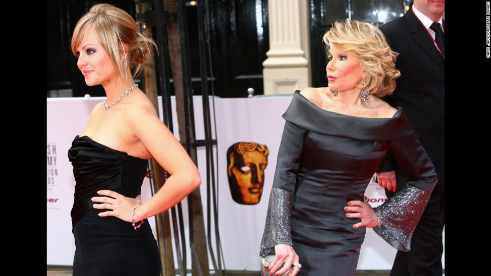 To be a pioneer, you have to be willing to go where others haven't, or simply won't. In the case of Joan Rivers, seen here to the right of Brit actress Tina O'Brien, she was willing to say what nobody else would. Her stand-up was uninhibited from the start, and her wisecracks soon led her to late night in 1965. By 1986, Rivers became the first woman to host her own late-night talk show, helping to pave the way for a new generation of funny women. Here are 29 others who've done the same.