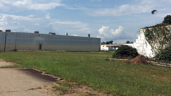 The shuttered Peanut Corp. of America plant haunts the town of Blakely, Georgia.