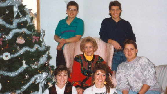 Shirley Mae Almer (center) with her children. Jeff Almer (dark blue shirt) became a food safety advocate.