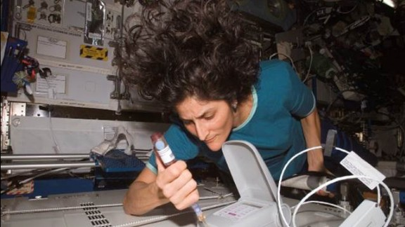 The Lab-on-a-Chip helps astronaut-scientists perform biological studies necessary for an extended human presence in space, from crew health and spacecraft environmental studies to the search for life elsewhere in the solar system. Pictured, astronaut Sunita Williams Using Endosafe in Space