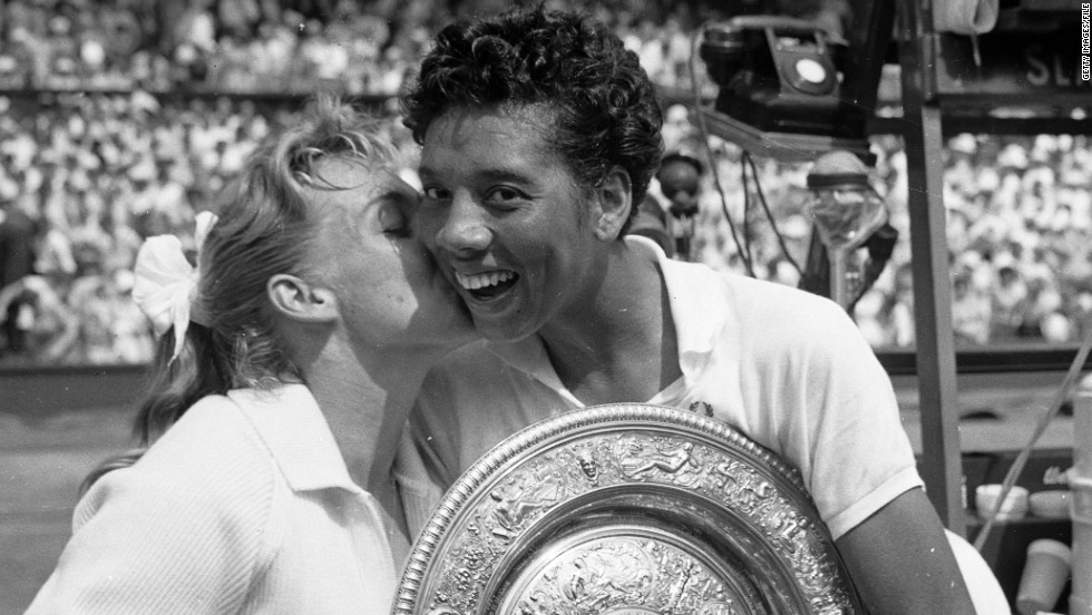 "Five-time grand slam champion and the first black player to win Wimbledon, <a href=""http://edition.cnn.com/2014/09/02/sport/tennis/us-open-althea-gibson-tennis/"">Althea Gibson</a> retired in 1959 to release an album of songs and appear in ""The Horse Soldiers,"" a John Ford-directed western, before making a living from professional golf."