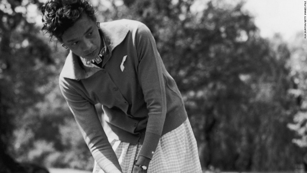 In 1963, Althea Gibson became the first black woman to play on the LPGA Tour but was unable to repeat the success she enjoyed on the tennis court.