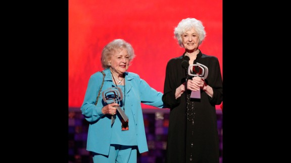 """Bea Arthur, right, was in her 50s when she starred in the '70s sitcom """"Maude."""" The groundbreaking show eagerly charged into new territory, including a pivotal episode in which Maude decides to have an abortion. Between that comedy, and what followed with Arthur's Dorothy Zbornak on """"The Golden Girls,"""" Arthur's death in 2009 was deeply felt. In Arthur's absence, her """"Golden Girls"""" co-star Betty White has pushed forward, becoming the rare woman in entertainment who's successfully working well into her 90s."""