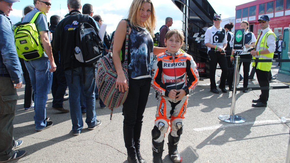 A young Marquez fan at Silverstone saw his idol win the British MotoGP.