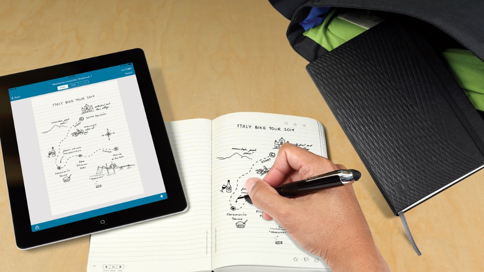 The Moleskine brand has become an iconic symbol in the world of note-taking, but it's set for a digital revamp thanks to LiveScribe's version, which transfers handwritten notes onto a tablet device.