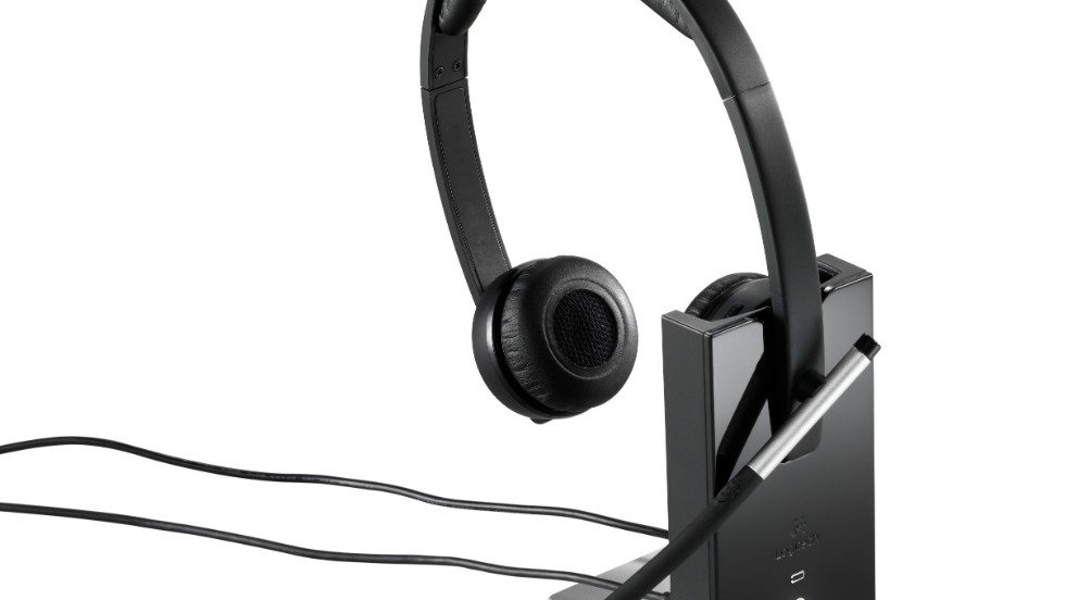 Logitech's wireless headset enables users to take phone calls up to 300 feet away from the office.