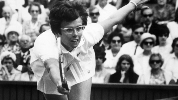 American tennis legend Billie Jean King during the 1967 Wimbledon championships.