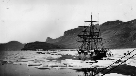 """Following Franklin's doomed expedition, other UK vessels followed later in the 19th century -- including HMS Alert, seen here, which formed half of the """"British Arctic Expedition"""" in the mid-1870s."""