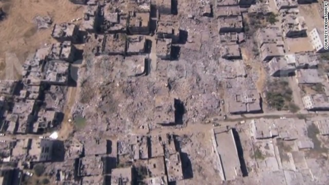 See Gaza destruction from above