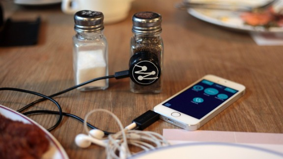 The Mogees sensor sticks to any object, immediately turning it into a musical instrument.