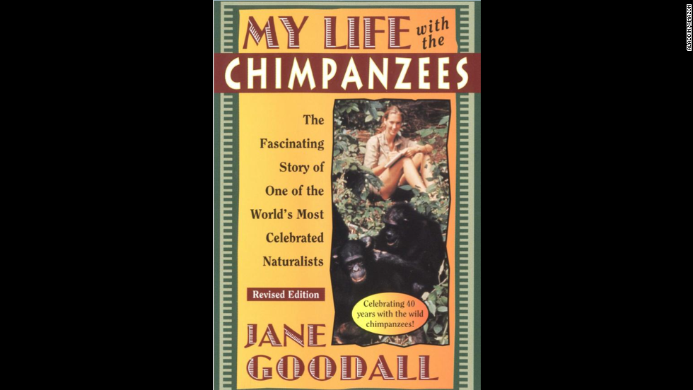 "Jane Goodall's children's autobiography, ""My Life with the Chimpanzees,"" recommended for ages 8+, illustrates the challenges Goodall faced at a time when women were expected to stick to traditional gender roles."