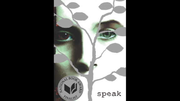 """The YA novel """"Speak"""" by Laurie Halse Anderson is recommended for ages 13+ and centers around a high school student who is ostracized by her peers and ends up barely speaking, only expressing herself through art."""