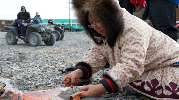 """""""You're never going to have 100% agreement,"""" admits Clare Kines (not pictured) from the hamlet of Arctic Bay in Nunavut, when asked how disruptive the developing tourism industry can be. """"These are very traditional communities. Hunting and being on the land are very important -- concern about that trumps everything."""""""