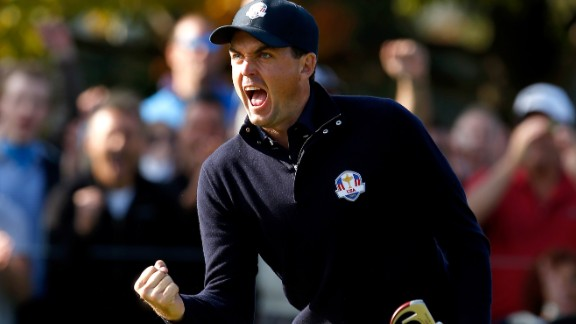 """Bradley, the 2011 U.S PGA Champion, will be playing in his second Ryder Cup after starring for the U.S. in Chicago two years ago. Watson referred to the 28-year-old's """"unbridled passion"""" as a major reason for picking him."""