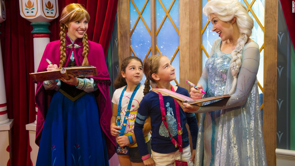 "Disney quickly added the Anna and Elsa characters to its theme parks. The wait to meet the two got to be as long as six hours at Epcot and <a href=""https://movies.yahoo.com/blogs/yahoo-movies/frozen-out--one-reporter-s-tortured-quest-to-meet-disneyland-s-anna-and-elsa-203635415.html"" target=""_blank"">almost as long at Disneyland</a>."