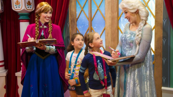Disney quickly added the Anna and Elsa characters to its theme parks. The wait to meet the two got to be as long as six hours at Epcot and almost as long at Disneyland.