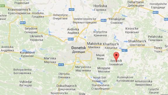 Map: Ilovaisk, Eastern Ukraine