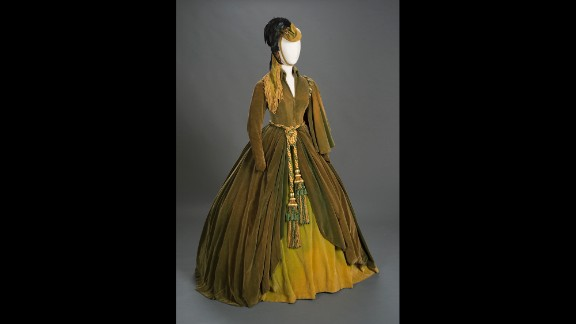 """Scarlett O'Hara's green curtain dress -- perhaps the most famous costume in Hollywood history -- is among three original outfits appearing in an exhibition marking the 75th anniversary of the 1939 movie classic """"Gone With the Wind."""" The exhibit opened in September at the Harry Ransom Center at the University of Texas at Austin, detailing the three-plus years it took to bring Margaret Mitchell's best-selling novel to the screen. It runs through January 4."""