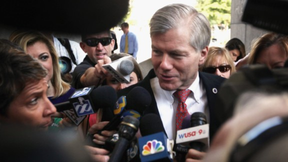 Former Virginia Gov. Bob McDonnell arrives at his corruption trial in Richmond, Virginia, in September 2015. A jury convicted McDonnell and his wife, Maureen, derailing the political ambitions of the one-time rising star in the Republican Party. McDonnell, who was sentenced to two years in prison, has asked the Supreme Court to reverse his conviction. The high court heard his challenge in April.