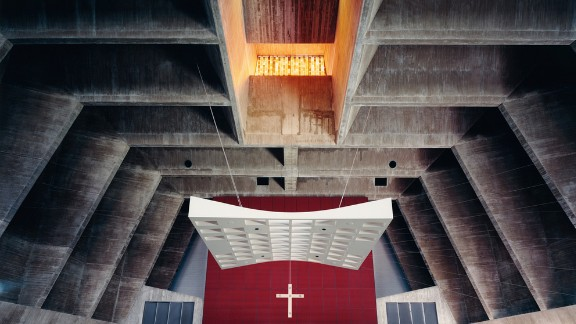 St. John's Abbey, Collegeville, Minnesota. Architect: Marcel Breuer.