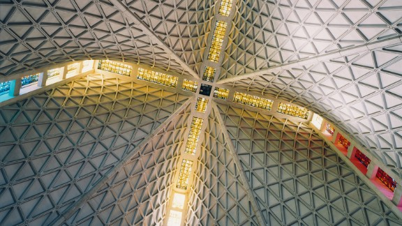 Cathedral of Saint Mary of the Assumption, San Francisco, California. Architects: Pier Luigi Nervi, Pietro Belluschi, John Michael Lee, Paul A. Ryan, Angus McSweeney.