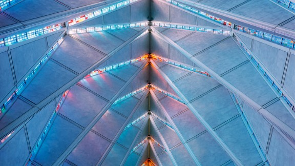 The roof of the United States Air Force Academy Cadet Chapel, Colorado Springs. Architects: Walter Netsch / Skidmore, Owings and Merrill.