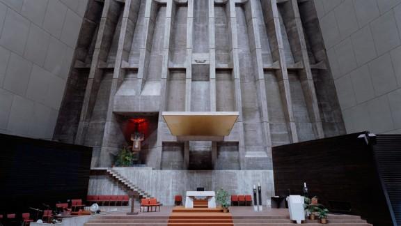 Saint Francis de Sales Catholic Church, Muskegon, Michigan. Architect: Marcel Breuer.