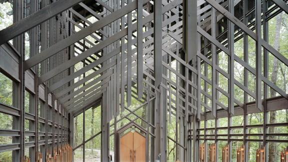 Thorncrown Chapel, Eureka Springs, Arkansas. Architect: E. Fay Jones.