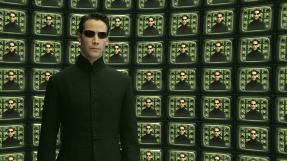 """In """"The Matrix,"""" Keanu Reeves stars as Neo, who must find a way to win the war against the Matrix, intelligent machines that have taken over the world."""