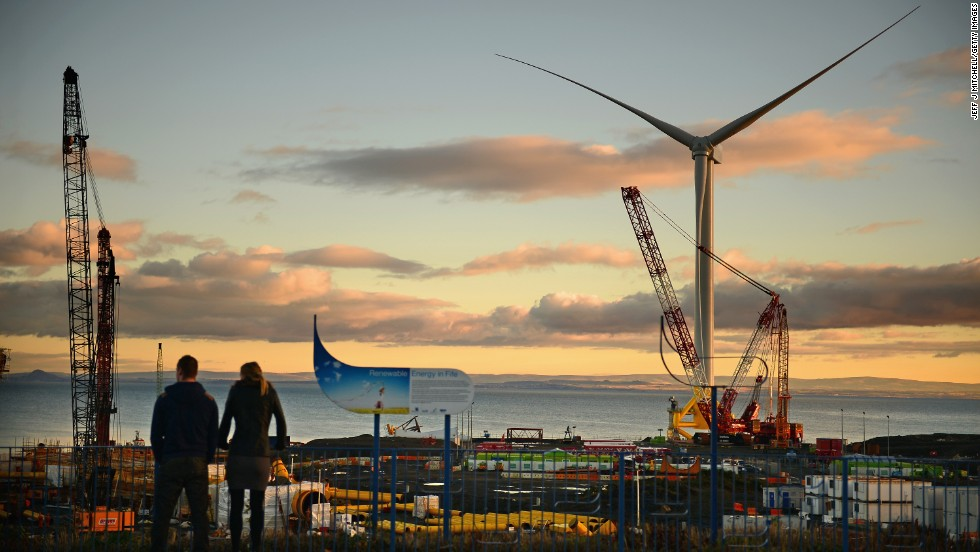 Scotland is also home to the world's largest and most powerful offshore wind turbine in Methil, Scotland.