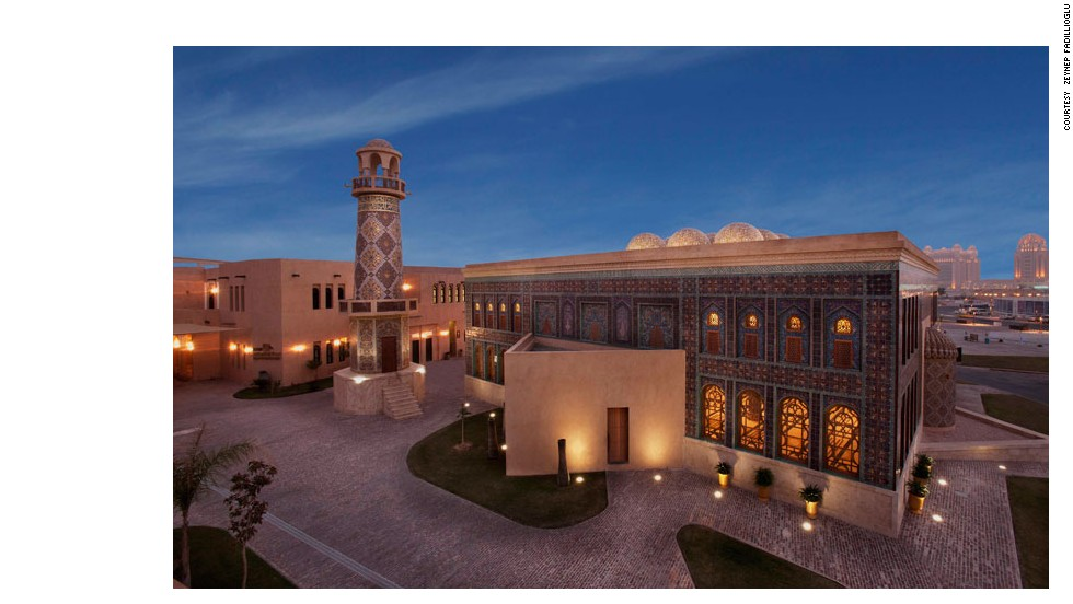 The mother-of-one -- who has university degrees in computer science and art history -- also designed the interior of the Friday Mosque in Doha, Qatar.