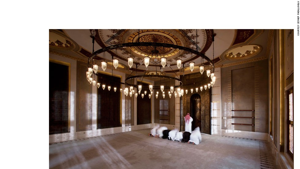 "Worshipers pray inside the Golden Mosque. ""I think when you step inside a mosque, like any other religious building, you leave everything to do with the outside world, outside the door,"" said  Fadillioglu. ""It should be a place of serenity."""