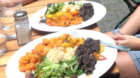This macrobiotic plate at Makro 1 featured sweet sauteed pumpkin, delicious quinoa, lentils and salad, enjoyed outside in a small courtyard just a short walk from the historic St. Stephen's Cathedral.