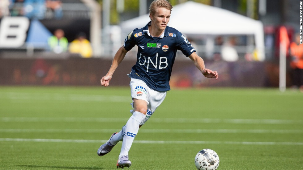 "Martin's father Hans Erik played for Strømsgodset for 11 seasons. He now is overseeing his son's football career. ""Martin has always -- and still loves to train,"" says Hans Erik. ""For him training is fun."""