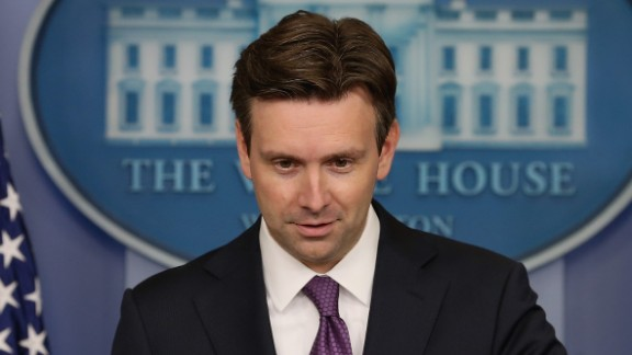 White House press secretary Josh Earnest clarified remarks by the President in a tweet on Tuesday.