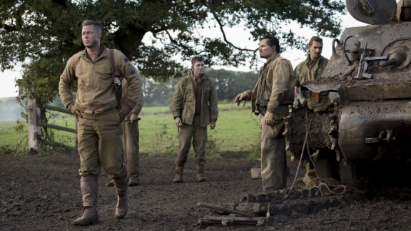 """<strong>""""Fury""""</strong>: In this film set in the heart of World War II, Brad Pitt plays a sergeant named Wardaddy who leads his troop into a surely fatal mission with a new soldier on board. Shia LaBeouf, Logan Lerman and Michael Pena also star. (October 17)"""