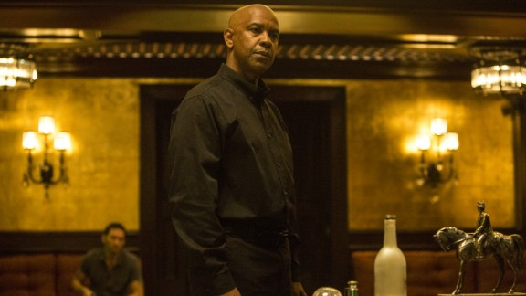 """<strong>""""The Equalizer""""</strong>: A determined Denzel Washington is our favorite kind. In this action movie, the actor plays a man named McCall who thought he'd put his past behind him in favor of a quiet life. But when he comes across a young girl under the thumbs of Russian mobsters, McCall gets back in business as a defender of the helpless. (September 26)"""