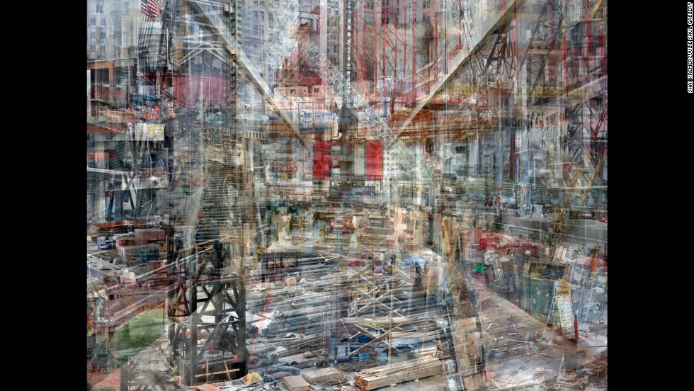 "In his ""Concrete Abstract"" series, Israeli photographer <a href=""http://www.shaikremer.com/"" target=""_blank"">Shai Kremer</a> overlays multiple photographs that he took of the World Trade Center site from 2011-2013. Each final work includes hundreds of digital images or pieces of images."