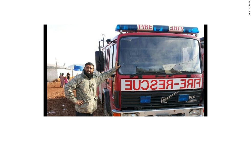 As a truck driver, Majeed's driving skills were in high demand amid the refugee camps of northern Syria.
