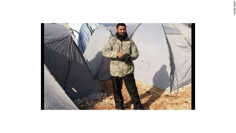 Majeed sent his family many pictures, showing him hard at work in tent camps in northern Syria near the border with Turkey.